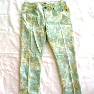 Jeans ~Flower / Floral~ SKINNY Green Yellow Blue